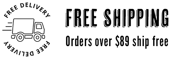 Free shipping on orders over $89